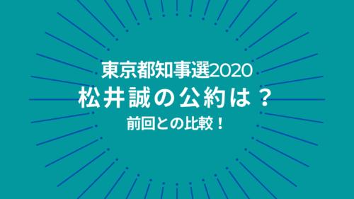 東京都知事選2020松井誠の公約についての参考画像